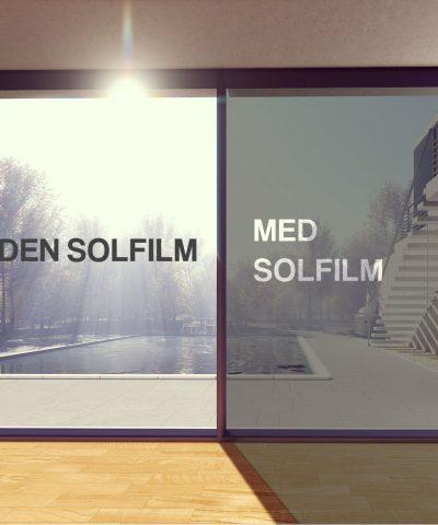 Solfilm til vinduer
