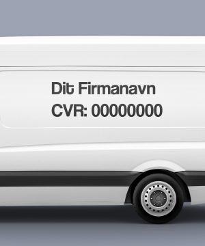 CVR Nummer på firmabiler
