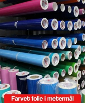 Selvklæbende farvet folie metermål