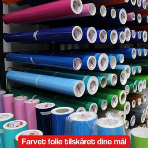 Selvklæbende farvet folie tilskåret dine mål