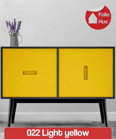 022 Light yellow folie til skabslåger