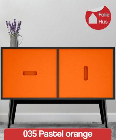 035 Pastel orange folie til skabslåger