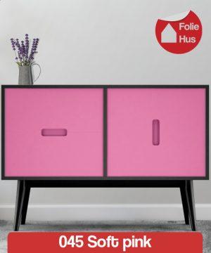 045 Soft pink folie til skabslåger
