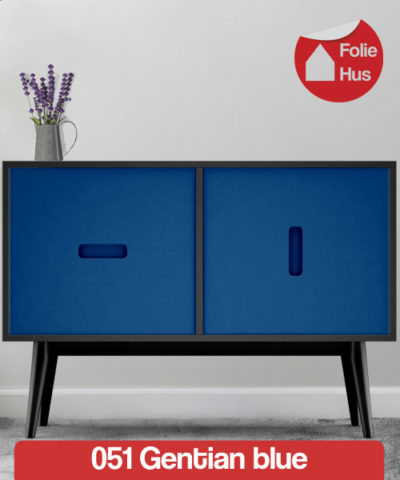 051 Gentian blue folie til skabslåger