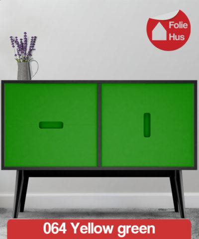 064 Yellow green folie til skabslåger