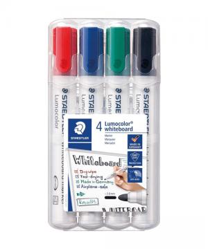 4 farvet whiteboard marker sæt