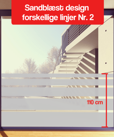frosted folie design forskellige linjer Nr-2 110 cm