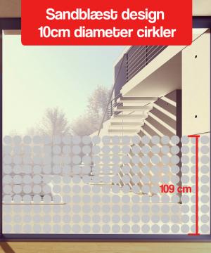 frosted design 8cm diameter cirkler 110cm