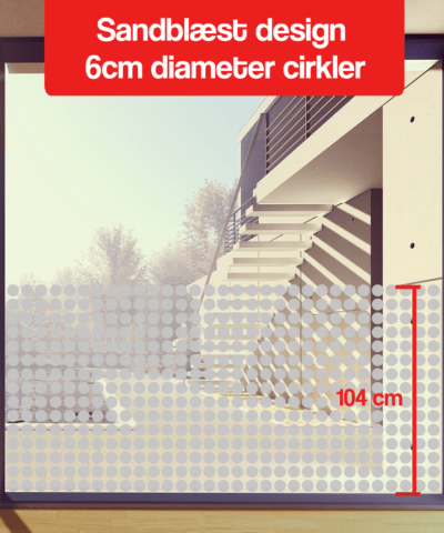 frosted design 6cm diameter cirkler 110cm