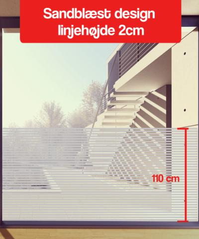 frosted design linjehøjde 2-cm 110cm