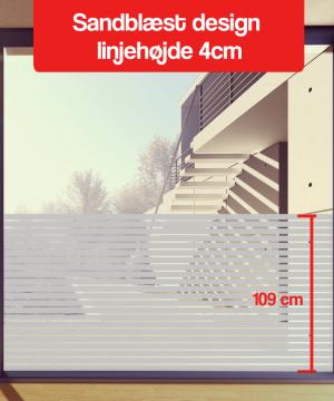 frosted design linjehøjde 4-cm 110cm