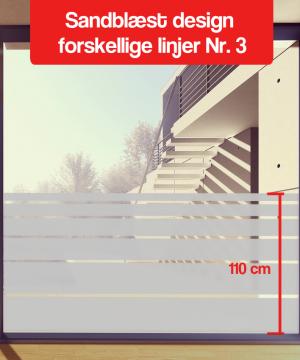 matteret design forskellige linjer Nr-3 110cm