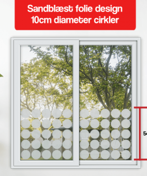 frosted folie design 10cm diameter cirkler