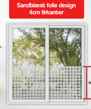 matteret design 4cm firkanter