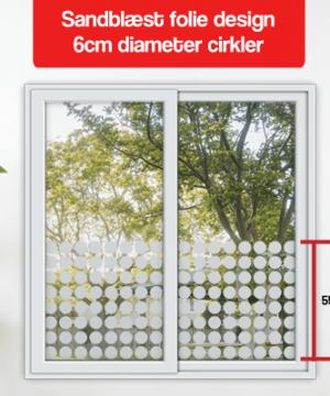 frosted design 6cm diameter cirkler