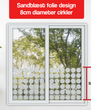 matteret folie design 8cm diameter cirkler