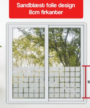 matteret folie design 8cm firkanter