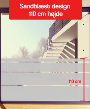 Sandblæst folie design 110 cm